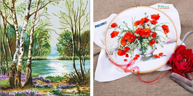 Что подарить маме: Набор для вышивания
