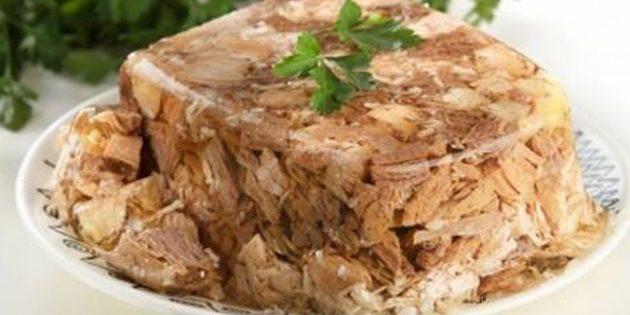 Рецепты холодца: Холодец из говядины