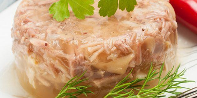 Рецепты: Холодец из свинины и говядины в мультиварке