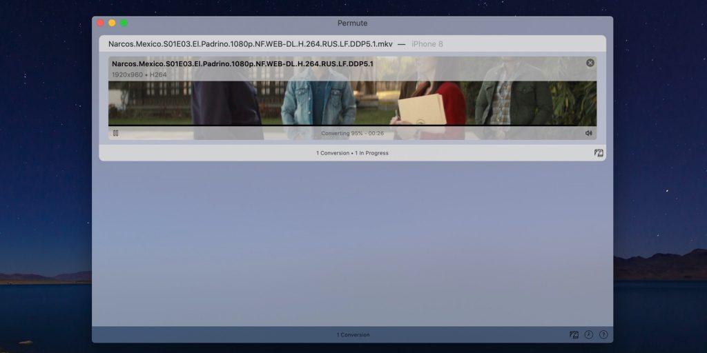 Permute для macOS: Конвертация