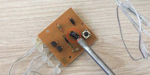 Как починить гирлянду: Выход из строя конденсатора