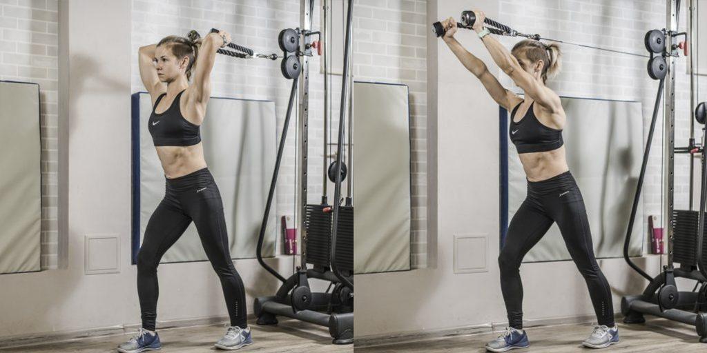 Топ-6 лучших упражнений на трицепс для девушек ФОТО