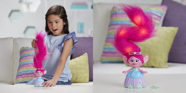 Кукла-тролль с крутыми волосами