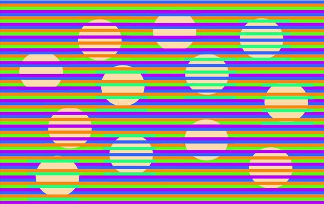 Оптические иллюзии-картинки: конфетти