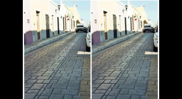 Оптические иллюзии-картинки: наклонная дорога
