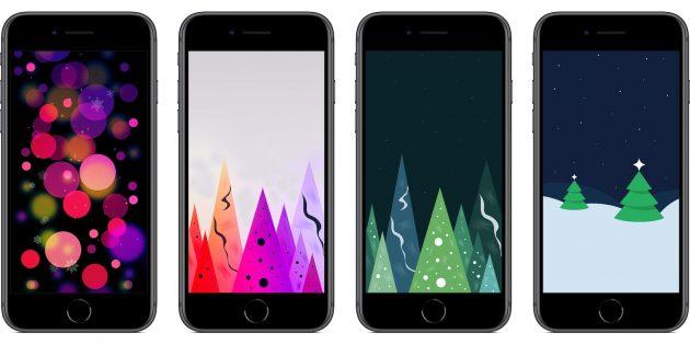 Оригинальные обои iPhone: новогоднее настроение