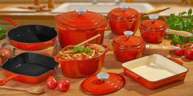 Чугунная посуда: Эмалированный чугун