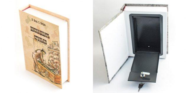 Оригинальные подарки на Новый год: книга-сейф