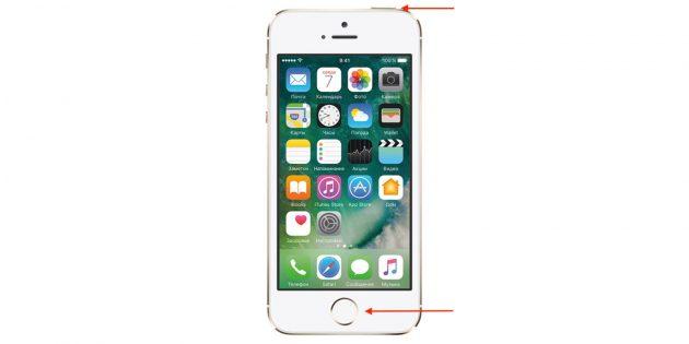 Как перезагрузить iPhone SE, 5s и более ранние модели