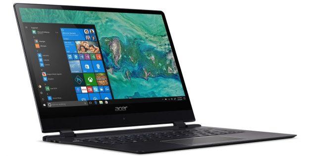Новые ноутбуки: Acer Swift 7