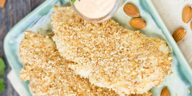 Рецепты курицы в духовке: Куриные грудки с хрустящей миндальной корочкой