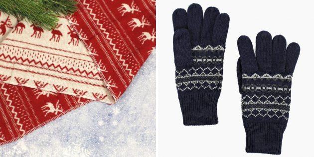 Тёплые перчатки или шарф
