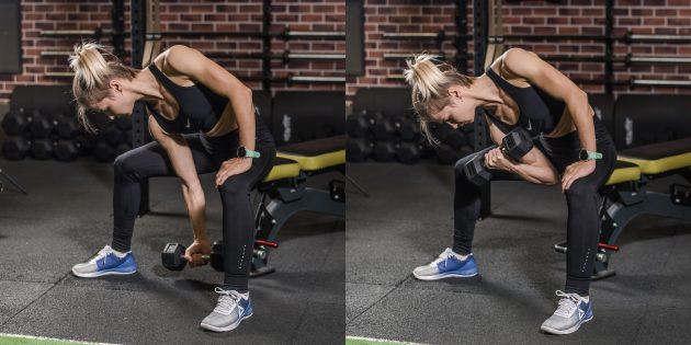 Упражнения на бицепс: концентрированный подъём на бицепс