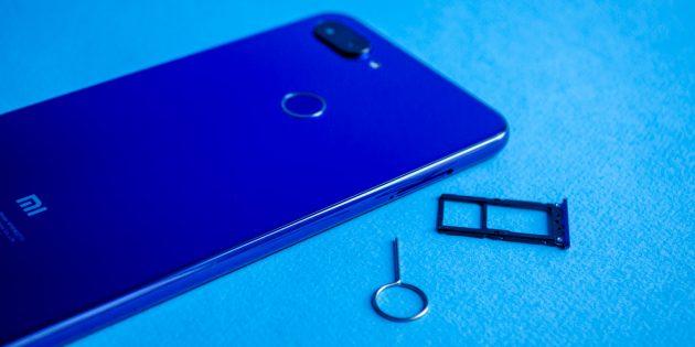 Обзор Xiaomi Mi 8 Lite: Лоток