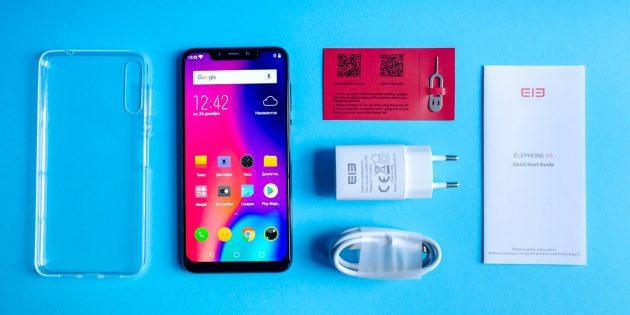 Elephone A5: Комплектация