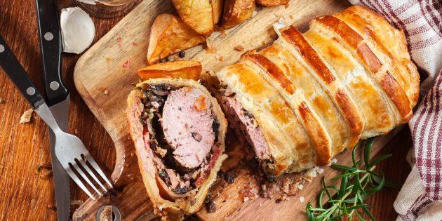 Свинина «Веллингтон», запечённая в духовке