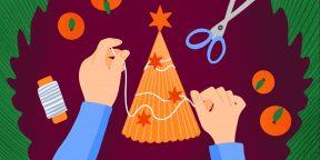 11 крутых новогодних поделок, с которыми справится каждый