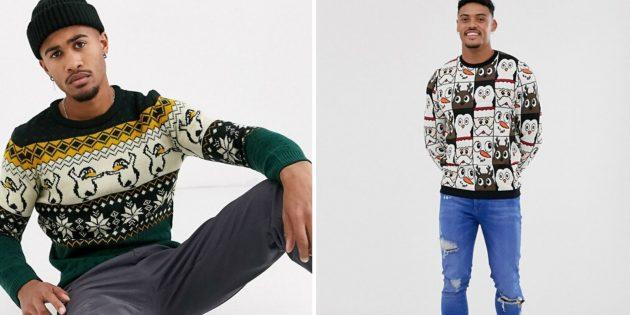 подарки любимому на новый год: Новогодний свитер