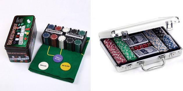 Что подарить любимому на Новый год: набор для покера