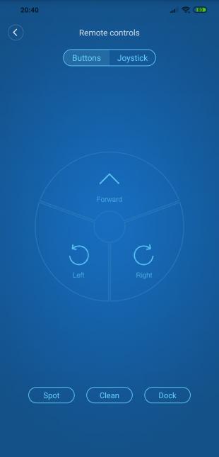 Xiaomi Mi Robot Vacuum: Remote controls