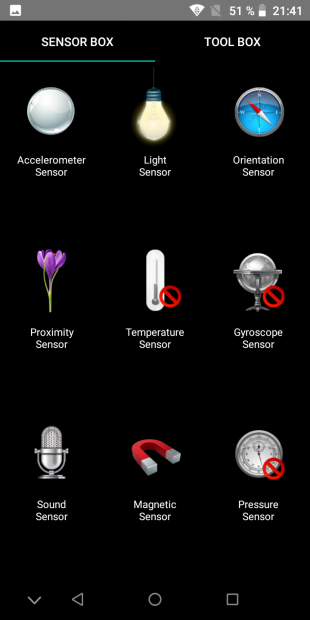 UMIDIGI A3: Сенсоры