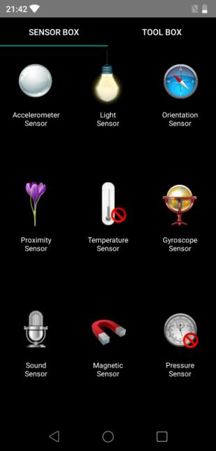 Elephone A5: Sensor box