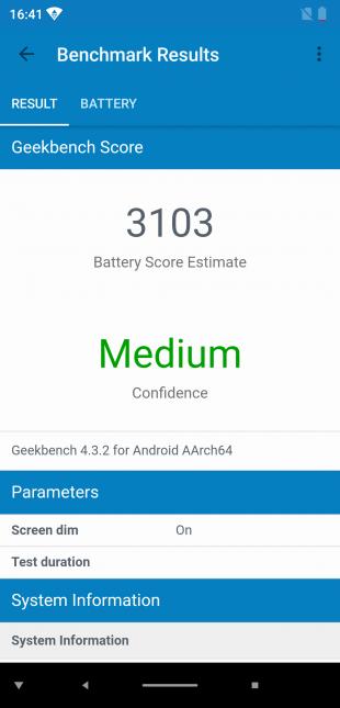 Elephone A5: Geekbench