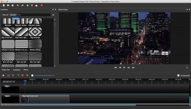Бесплатные видеоредакторы: OpenShot