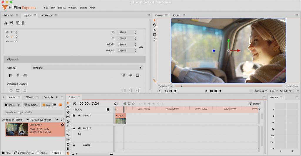 Бесплатные видеоредакторы: HitFilm Express