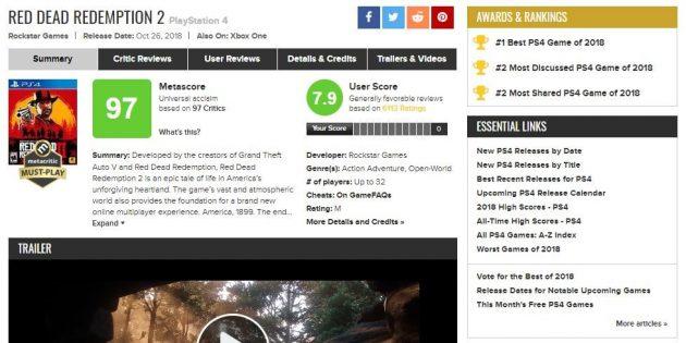 Где искать игры: рейтинги на Metacritic