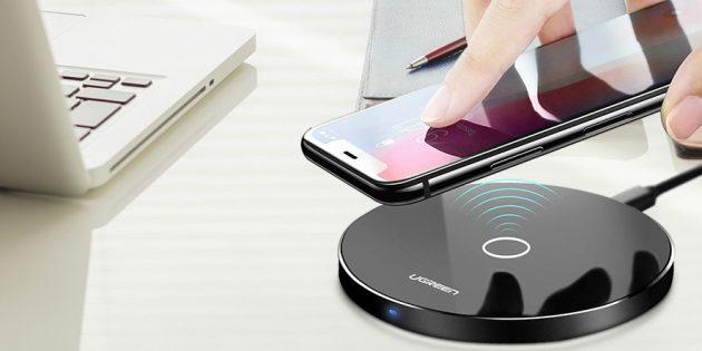 Новогодняя распродажа в Tmall: Беспроводное зарядное устройство Ugreen