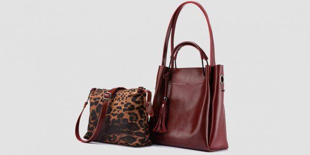 Новогодняя распродажа в Tmall: Комплект из двух сумок Realer