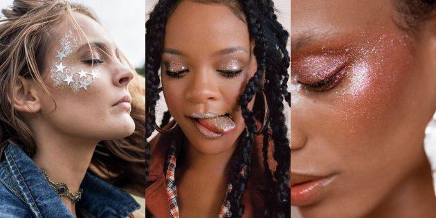 Новогодний макияж: блеск везде