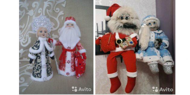авито подарки: Дед Мороз и Снегурочка