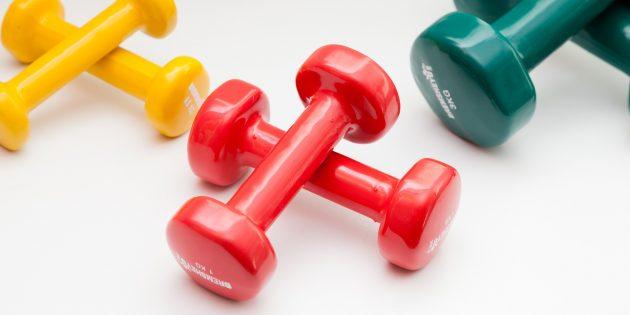 Упражнения с гантелями: Для фитнеса