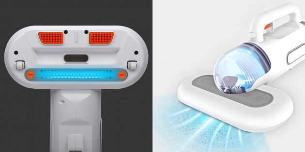 Мини-пылесос Xiaomi SWDK Cordless Portable Vacuum: обработка ультрафиолетом