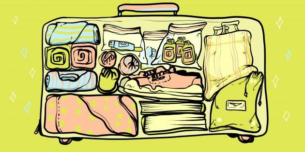 как упаковать чемодан: стена