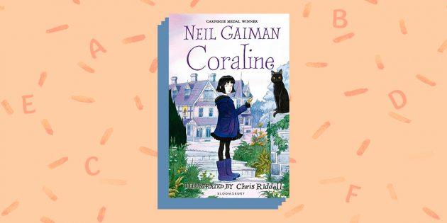 книги на английском языке: «Coraline», Neil Gaima