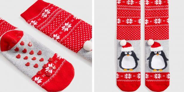 100 новогодних подарков: Махровые носки