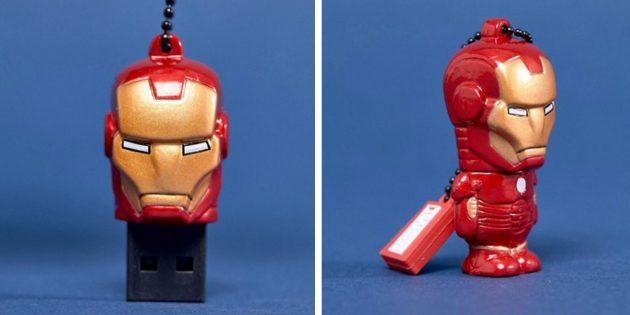 100 новогодних подарков: Флешка Iron Man 16Гб