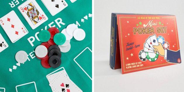 100 новогодних подарков: Мини-набор для покера