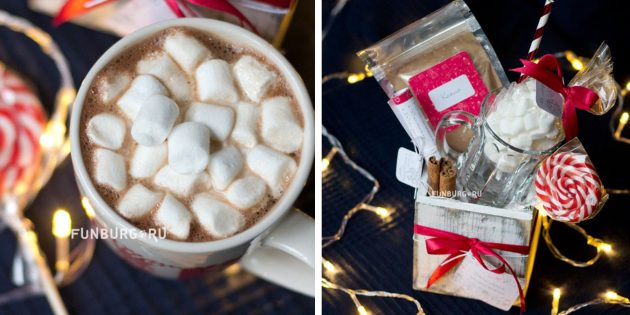 100 новогодних подарков: Подарочный набор «Какао с зефирками»