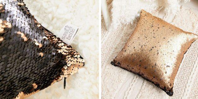 100 новогодних подарков: Чехол на подушку с пайетками Sass & Belle