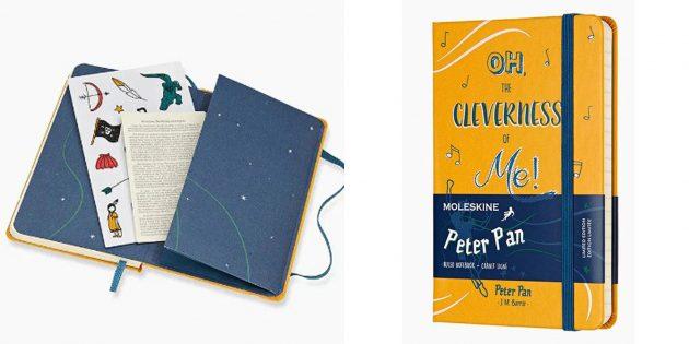 100 новогодних подарков: Блокнот Moleskine Peter Pan