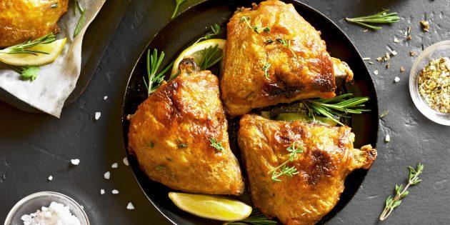 Куриные бёдрышки в горчично-медовом соусе в духовке