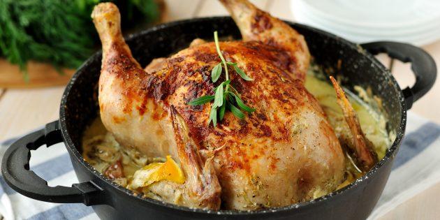 как приготовить целую курицу в духовке