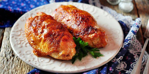 курица в духовке: куриные грудки, фаршированные авокадо и помидорами