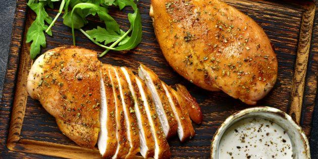 рецепты курицы в духовке: куриная грудка в майонезе