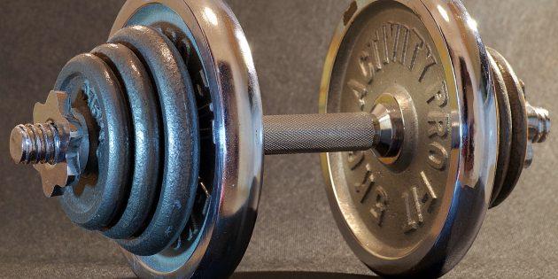 Упражнения с гантелями: Разборные
