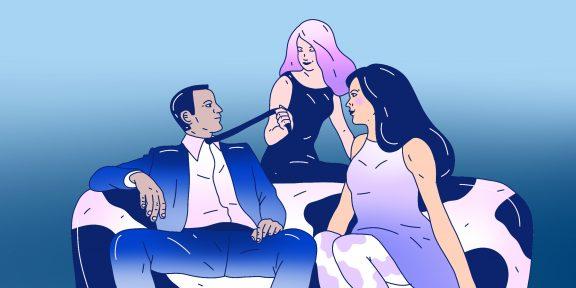 7 лучших поз для секса втроём